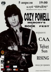 Cozy Powell Memory's Rock Fest