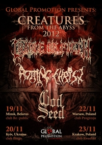 CRADLE OF FILTH, ROTTING CHRIST & GOD SEED в Киеве